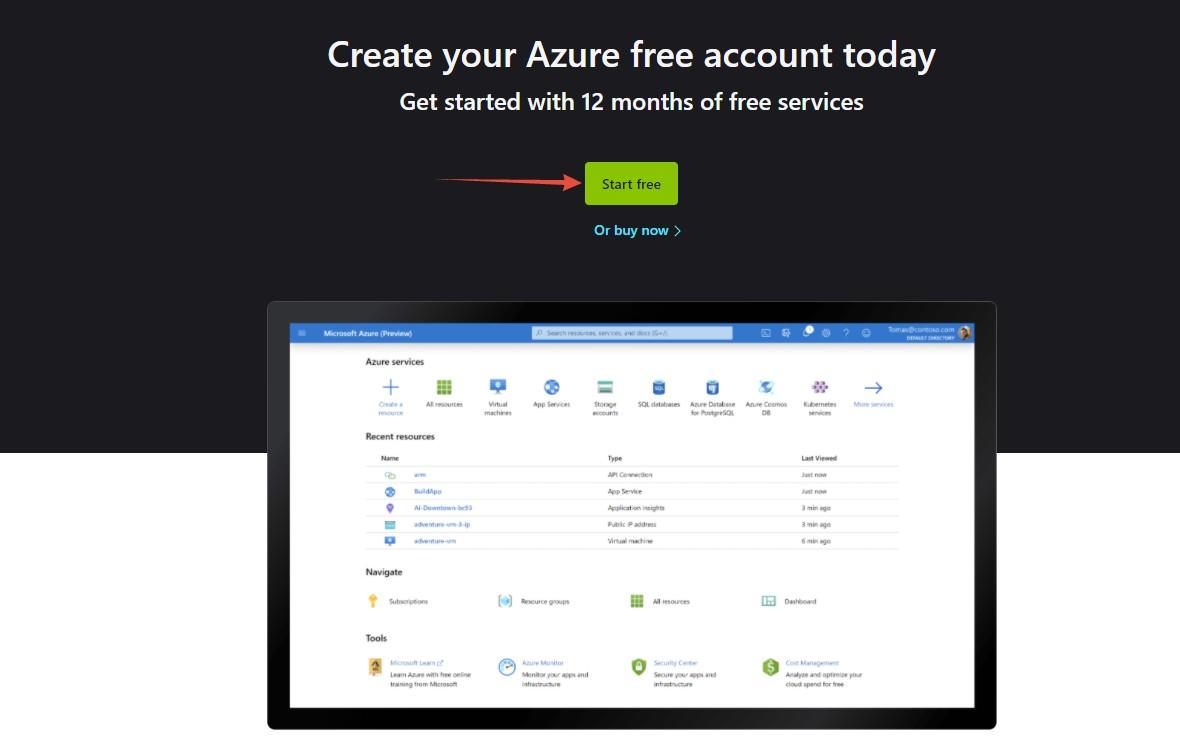 Cách đăng ký Microsoft Azure tặng 1 năm VPS miễn phí