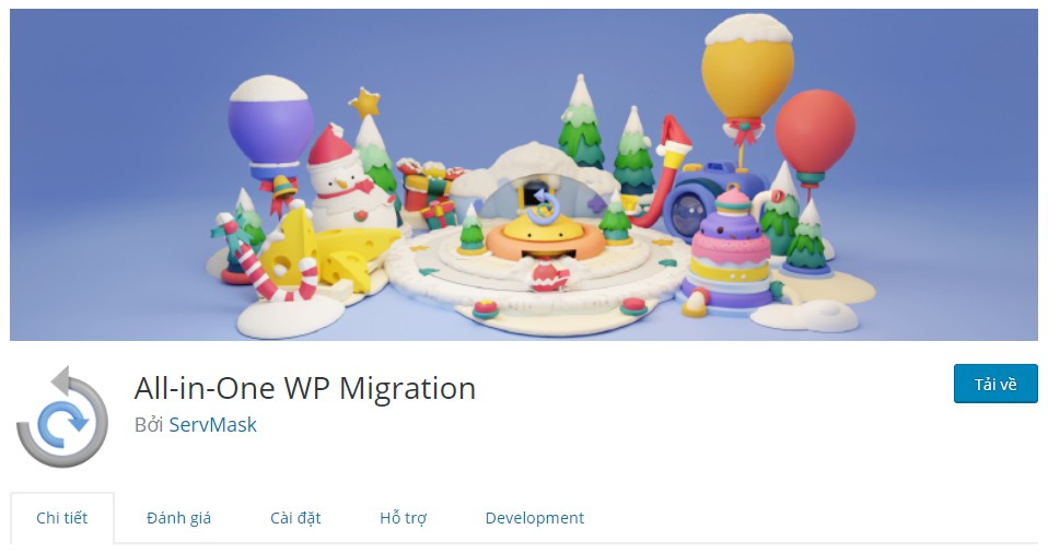 Cách tăng giới hạn upload cho plugin All in One WP Migration